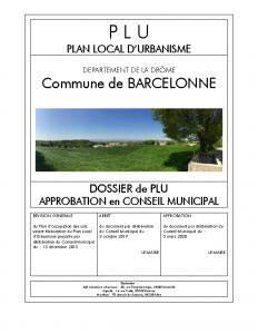 PLU Barcelonne_00 PdG et sommaire