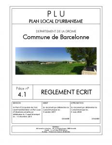 PLU Barcelonne_04.1 R_glement