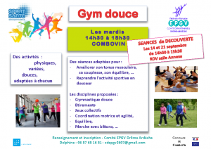 Cours Gym Douce Adulte Affiche Combovin 2021 2022